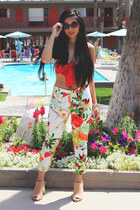 bandeau LuLus top - floral LuLus pants