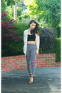 Black-lace-crop-foreign-exchange-top-ivory-lace-crossroads-trading-cardigan