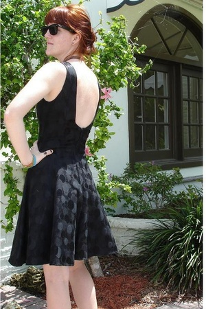 50s black party dress with built-in crinoline