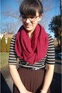 Light-brown-ankle-t-j-maxx-boots-ruby-red-circle-boscovs-scarf