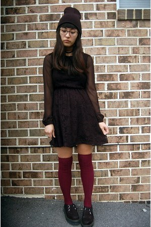 black lace kohls dress