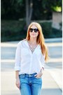 Blue-7-for-all-mankind-jeans-white-button-up-mossimo-blouse