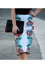 Pencil-bisou-bisou-skirt-t-shirt