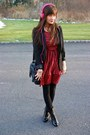 Black-modcloth-boots-red-striped-dress-sosie-dress