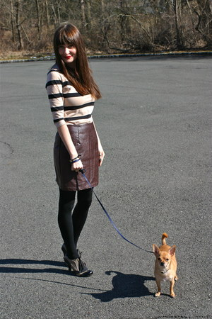 Forever 21 skirt - H&amp;M dress - tights Target tights - Henri Bendel bracelet