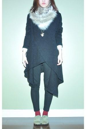 Forever 21 socks - asos scarf - Jeffrey Campbell loafers - asoss necklace