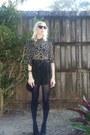 Black-target-shorts-zara-blouse-black-zara-heels