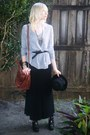 Black-forever-21-hat-black-maxi-skirt-thrift-skirt-heather-gray-forever-21-t