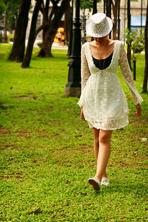 white shoes - white dress - accessories
