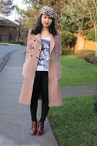 BCBGeneration coat - leather Nine West boots - nylon Zara leggings