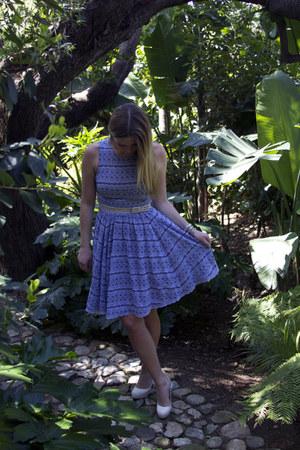 violet Plenty dress - ivory Sergio Zelcer heels