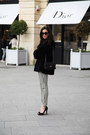 Black-patrizia-pepe-coat-black-chanel-bag