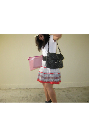 comma skirt - Mango t-shirt - shoes - accessories