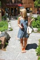 blue dress - tawny boheme Cushe sandals