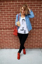 white morrissey top - brick red arc boots Samanthe Pleet for Wolverine boots