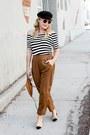 Black-striped-splendid-top-bronze-slouchy-thacker-nyc-pants