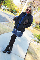 black ankle boots Michael Kors boots - black puffer Dex Jeans jacket