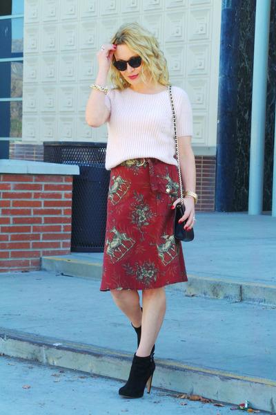 brick red animal print Corey Lynn Calter skirt