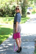 bright handbag olivia & joy bag - chambray J Crew shirt