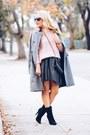 Heather-gray-zara-coat-light-pink-cable-knit-loft-sweater