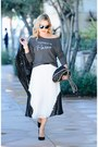 Gray-sweatshirt-happiest-tee-top-white-pleated-asos-skirt