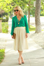 Brown-clutch-madewell-bag-eggshell-accordian-pleat-american-apparel-skirt