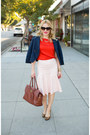 Navy-marc-by-marc-jacobs-jacket-peach-ruffle-hem-anthropologie-skirt