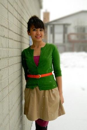 Target boots - worn as shirt Target dress - Target tights - Nordstrom cardigan