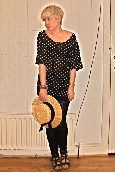 vintage top - Kate Moss Topshop pants - Zara sandals