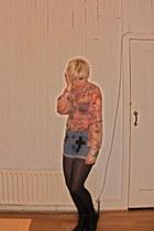 Levis shorts - Topshop blouse