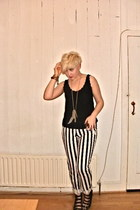 Topshop top - H&M necklace - River Island pants - Topshop sandals