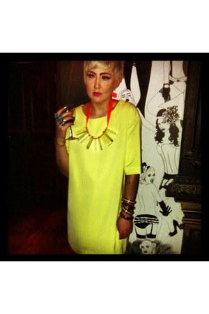 asos dress - H&M necklace