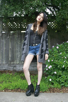 black Jeffrey Campbell boots - gray Urban Outfitters sweater