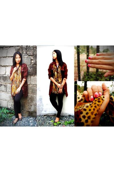 dark brown thrifted vintage coat - black bazaar Bazaar tights