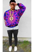 necklace - Metro High Fashion jacket - Gap t-shirt - H&M pants - Aldo shoes
