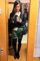 black Topshop boots - black Gap sweater - peach Limi Feu shirt