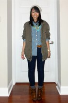 Aldo boots - bfs JCrew jacket - JCrew shirt - JCrew belt - JCrew pants