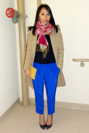 Zara coat - Crewcut sweater - Marc Jacobs bag - YSL heels - Tibi pants