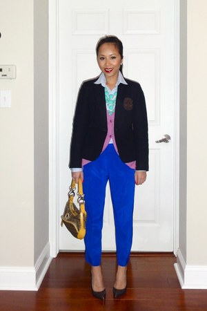 necklace J Crew sweater - talbots blazer - H&M shirt - Fendi bag - YSL heels - T