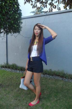 blue jersey bangkok blazer - navy Topshop shorts