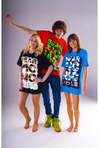red Bearpicniccom t-shirt - green jb shoes - blue Topman jeans - black Bearpicni