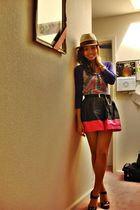 brown Claires accessories - gray Pac Sun top - pink Topshop skirt - black Glitte