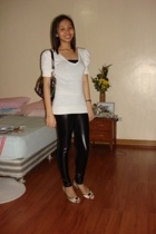 Topshop top - Zara leggings - XOXO accessories - Celine shoes