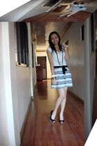 white Zara shirt - white Charlotte Russe skirt - black Rue 21 shoes