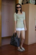Dorothy Perkins top - shorts - longchamp accessories - sanuk shoes
