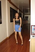 Mango top - gliterrati belt - Topshop skirt - accessories - accessories - Zara s
