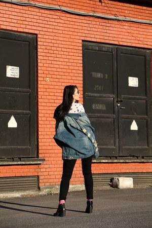 zaful jacket - Zara jeans
