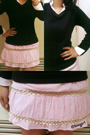 black my sisters shirt - pink 168 Shopping Mall skirt