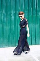 Hk closet see through black top - Zara black pants