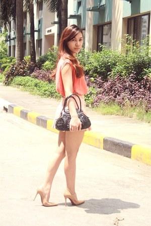 From Korea short skirt - Celestina bag - mycloset top